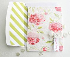 <3 - Distress Ink Hero Arts flowers by stampztoomuch - Cards and Paper Crafts at Splitcoaststampers