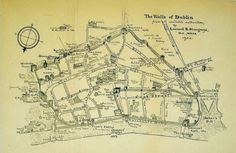 The Walls of Dublin - from 'Illustrations of Irish History and Topography' by C. Litton Falkiner (London, 1904)