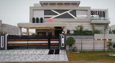 Rana Best Modern House Design, Modern Exterior House Designs, Dream Home Design, Modern House Plans, Exterior Design, House Gate Design, Bungalow House Design, House Front Design, Architecture Design