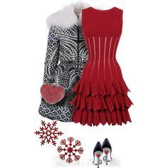 """Little Red Dress"" by yasminasdream on Polyvore"