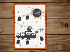 Das Motiv der #Postkarte zeigt die süße Eulenfamilie. Die Postkarte eignet sich hervorragend als kleine Aufmerksamkeit zu bestandenen Prüfungen oder auch zum Geburtstag.