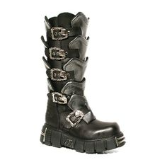 New Rock boot http://www.attitudeholland.nl/hem/schoenen/laarzen/plat/high-boot-m-738-s1-black-grey-new/