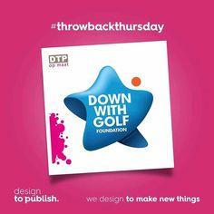 In het kader van #throwbackthursday. Een project uit 2013. Logo voor Down with golf foundation. Wat vinden jullie, still yay or nay? #tbt #designtopublish