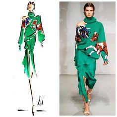 Laura Kay fashion sketch, Krizia