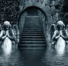 Stairway To Heaven Quotes. Abandoned Castles, Abandoned Mansions, Abandoned Buildings, Abandoned Places, Statue Ange, Stairways, Belle Photo, Architecture, Beautiful Places