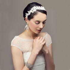 Milla Beaded Lace Bridal / Debutante Headband