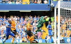 Over his head: Hull City keeper Boaz Myhill can do nothing as Chelsea score Picture: Robert Noyes