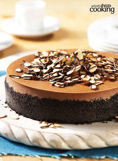 Mocha-Almond Cheesecake #recipe