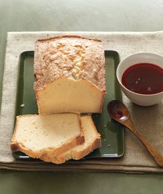 Citrus Pound Cake With Cranberry Syrup: Both orange and lemon zest provide bright citrus notes in this buttery cake.