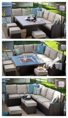 With the Monticello Collection on your porch, deck, or patio, the Great Outdoors becomes a little greater. This assortment of seating pieces is crafted with rust-resistant frames and plump pillows covered in durable, water- and fade-resistant fabric. At t