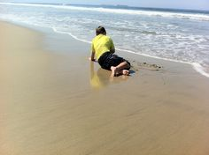 Last day at beach before school, 2011. Southern California.