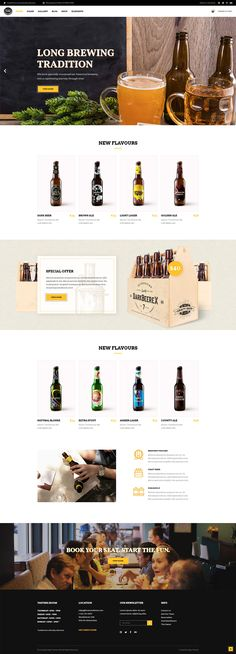 With Pints & Crafts WordPress theme you can set up an online store easily and start selling your beers in no time. Web Bar, Craft Beer Shop, Web Design Examples, Create Online Store, Beer Store, Beer Company, Craft Online, Beer Brewery, Shops