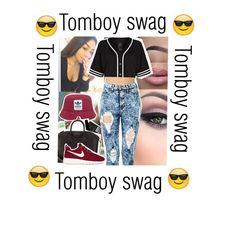 """""""Tomboy swag"""" by jaime-losago ❤ liked on Polyvore featuring adidas Originals, Givenchy, NIKE and River Island"""
