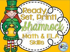 St. Patricks Day Ready, Set, Print! Math and Literacy Work for Primary Grades from First Grade Fun Times on TeachersNotebook.com -  (21 pages)  - Math, Reading, Writing Practice for St. Patrick's Day