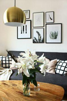 String Shelf, Sweet Home, Gallery Wall, Shelves, Living Room, Interior, Frame, Prints, Natural Living