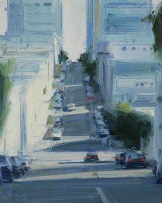 David Shevlino @@@@......http://es.pinterest.com/ecervini/villages-and-cityscapes-painted/
