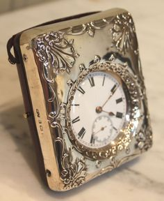 Silver Watch Stand and Watch (England) 1901.