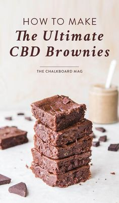 More like haute brownies. If you're on a CBD kick, this sweet NYC-based collab and exclusive recipe are everything. Vegan Desserts, Dessert Recipes, Vegan Treats, Hemp Recipe, Cannabis Edibles, Marijuana Recipes, Weed Recipes, Easy Recipes, Vegetarian Recipes