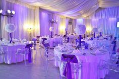 ECA events wedding reception tall centerpiece feather glamour glam decor weddings bride groom luxury