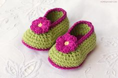 """""""These vibrant fairy blossom booties just scream trips to the park, walks along the beach and picnics in a flower field... In other words, summer! And the best part, you can create these booties in a couple of hours!"""""""