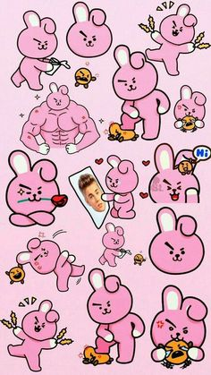 List of Latest Bts Anime Wallpaper IPhone Bts Kawaii, Bts Memes, Bts Wallpaper, Iphone Wallpaper, Bts Pictures, Photos, Line Friends, Bts Drawings, Billboard Music Awards