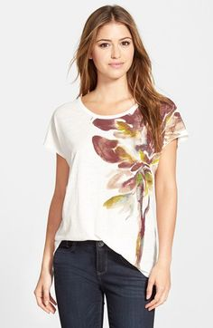 Two by Vince Camuto 'Bouquet' Print Tee available at #Nordstrom