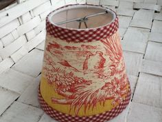 Ralph lauren handmade lampshade trimmed with french gimp you choose red and yellow french toile chandelier lampshades wall sconce shades aloadofball Choice Image