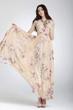 2013 summer new arrival womens V neck chiffon print one piece dress bohemia flower print long dress plus size chiffon silk dress-inDresses from Women's Clothing & Accessories on Aliexpress.com   Alibaba Group