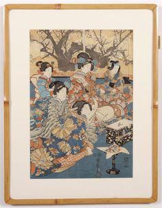 UTAGAWA KUNISADA (1786-1865, JAPAN) WOODBLOCK ON PAPER