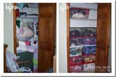 Delightful Order: Organizing My Mom's Knitting/Crocheting Room ~~~ so simple, but oh so satisfying to see chaos transformed into order. Craft Storage Cabinets, Craft Room Storage, Storage Ideas, Diy Gifts For Friends, Diy Crafts For Gifts, Wall Art Crafts, Paper Crafts, Paper Organization, Organizing