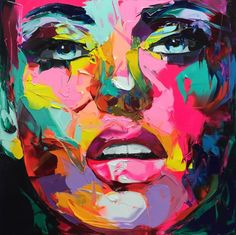 Portrait Face Oil painting Palette Knife Impasto figure canvas Hand painted Francoise Nielly Wall Art Pictures for living room Abstract Portrait, Portrait Art, Portrait Ideas, Portrait Paintings, Portrait Inspiration, Artist Painting, Painting & Drawing, Painting Abstract, Watercolor Artists