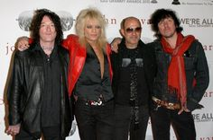 Singer Michael Monroe and band New York Dolls arrive at John Varvatos' 52nd Annual Grammy Awards party on January 28 2010 in West Hollywood California