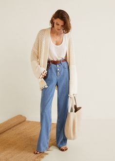 Open knit cardigan - Women