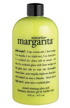 philosophy 'señorita margarita' shampoo, conditioner