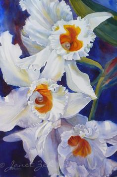 White+Orchids+Watercolor+Paintings | original watercolor on archival paper click for more views the