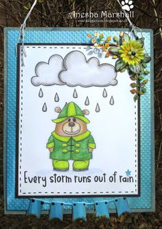 Beccy's Place - Stanley in the Rain Fabric Crafts, Paper Crafts, Digital Image, Cardmaking, Rain, Stamp, Queen, Colouring, Places