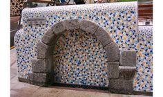Trencadis Fountain Errekaldeko Iturrixa, (Guipúzcoa), Spain - Trencadis Houses, Blue Prints