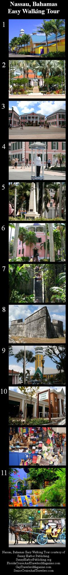 Family Travelers Magazine - Nassau Bahamas Easy Walking Tour - step by step!!!