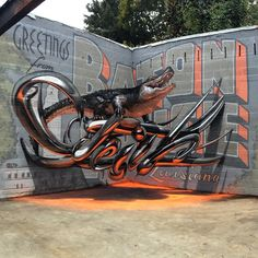 Odeith from Lisboa Portugal. This Graffiti Artist is crazy, no photoshop, no tricks, just crazy painting. I love street art.