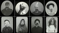 I love these Victorian faces - such comedy and expression. I love the inclusion of the dog. #humour #victorians #photography