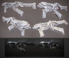SMG clay render, Nick Govacko on ArtStation at http://www.artstation.com/artwork/smg-clay-render