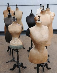 Antique Vintage Decor a heavenly group of antique mannequins (collection) - Love Vintage, Vintage Decor, Vintage Antiques, Retro Vintage, Vintage Items, Dress Form Mannequin, Vintage Mannequin, Fashion Mannequin, Mannequin Heads