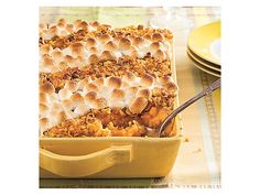 Sweet Potato Casserole with Marshmallows and CornFlakes