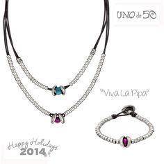 "Una pareja perfecta, el collar y la pulsera ""Viva La Pipa"".  A perfect couple,""Viva La Pipa"" necklace and bracelet.  Collar/necklace: http://goo.gl/dkbPkG Pulsera/bracelet: http://goo.gl/md4N2A"
