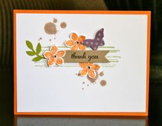 Thank you card - petite petals, gorgeous grunge stamp sets Stampin' Up! Card by Krystal's Cards and More