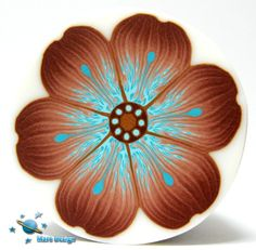 Brown and turquoise flower cane | Flickr - Photo Sharing!