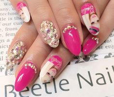 Nail Art - Beetle Nail :  バービーネイル  #バービー #Barbie  #Beetlenail #Beetle近江八幡 #ビートルネイル #ビートル近江八幡