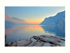 Luce della sera sul Lago di Garda Canvas Print / Canvas Art by Martina Fagan Framed Prints, Canvas Prints, Art Prints, Ethereal Photography, Colour Images, Martini, Art Boards, Fine Art America, Vibrant Colors