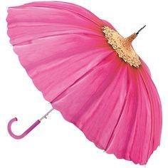 Fulton Pagoda Walker Umbrella, Pink Daisy, found on polyvore.com