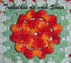 Trabalhos da vovó Sônia: Flor de outono - croché